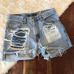 Furst of a Kind | Re-Done Levi's Light Wash Shorts
